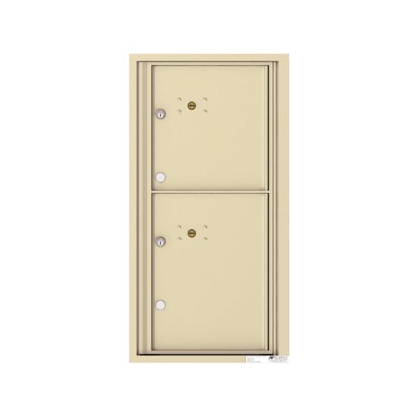 4C09S-2P 2 Parcel 9 High Single Column 4C Front Loading Outdoor Parcel Locker
