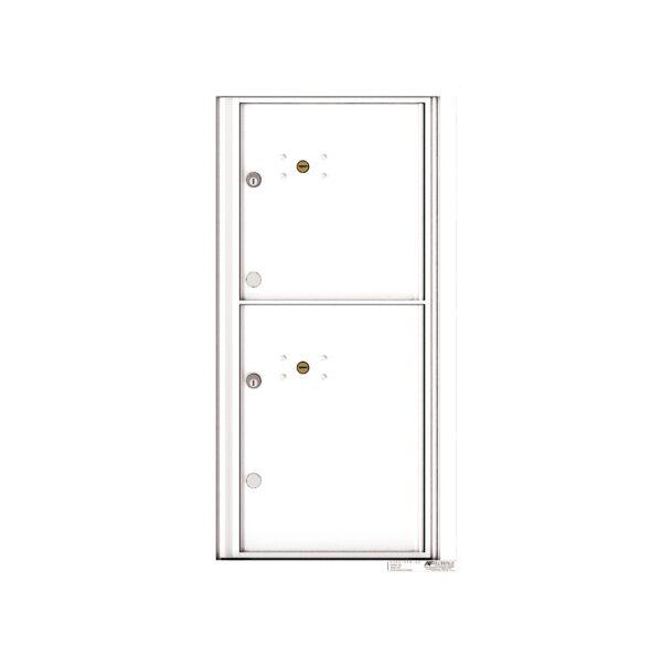 4C09S-2P 2 Parcel 9 High Single Column 4C Front Loading Outdoor Parcel Locker
