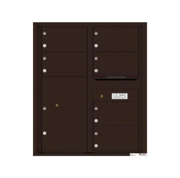 4C10D-06 6 Tenant Door 10 High 4C Front Loading Mailbox