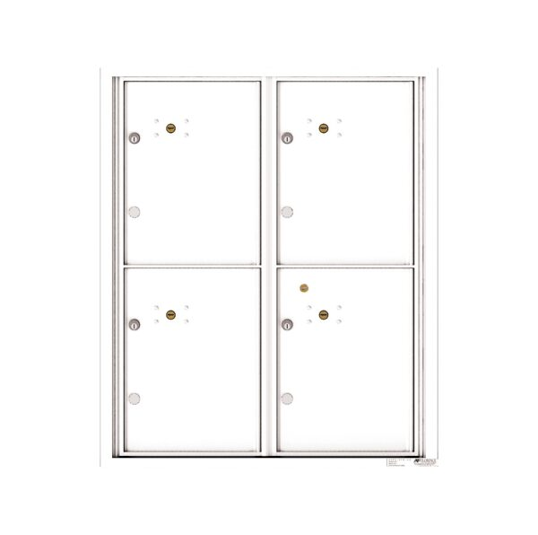 4C10D-4P 4 Parcel 10 High 4C Front Loading Outdoor Parcel Locker