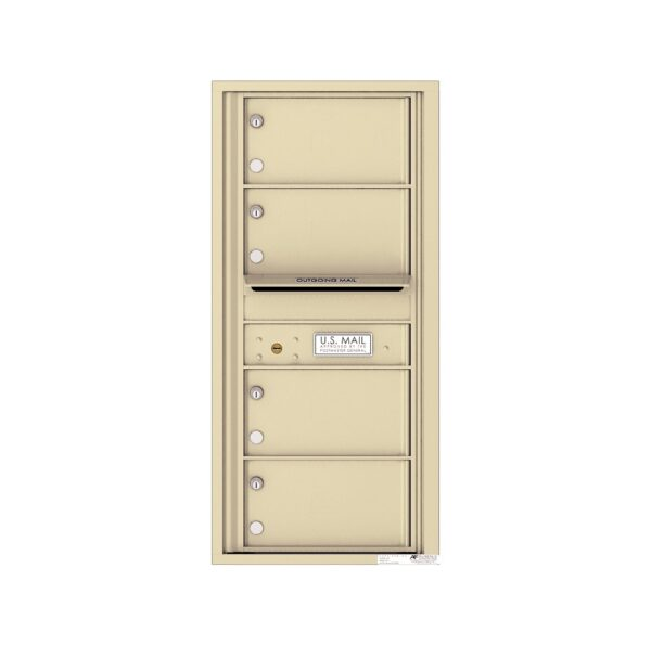 4C10S-04 4 Tenant Door 10 High Single Column 4C Front Loading Mailbox