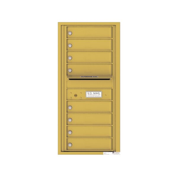 4C10S-08 8 Tenant Door 10 High Single Column 4C Front Loading Mailbox