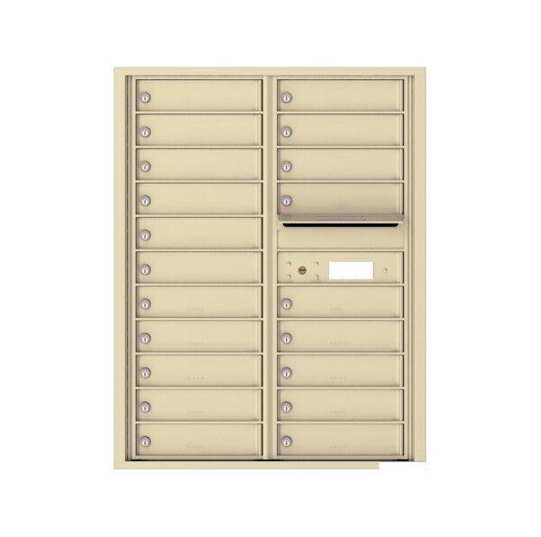 4C11D-20 20 Tenant Door 11 High 4C Front Loading Mailbox