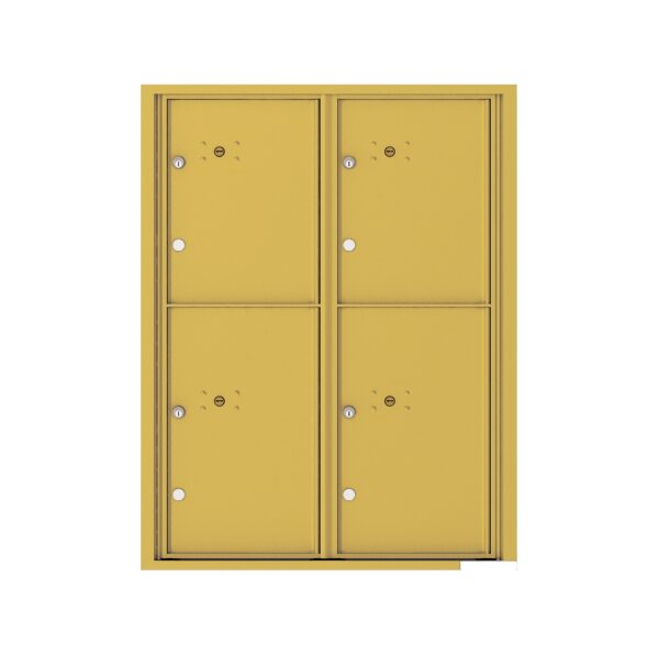 4C11D-4P 4 Parcel 11 High 4C Front Loading Outdoor Parcel Locker