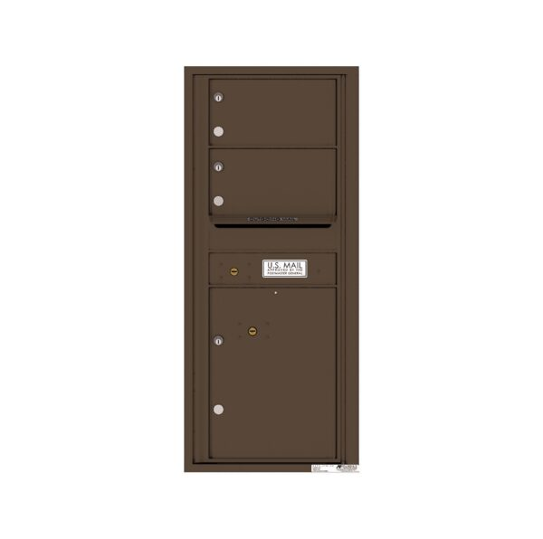 4C11S-02 2 Tenant Door 11 High Single Column 4C Front Loading Mailbox