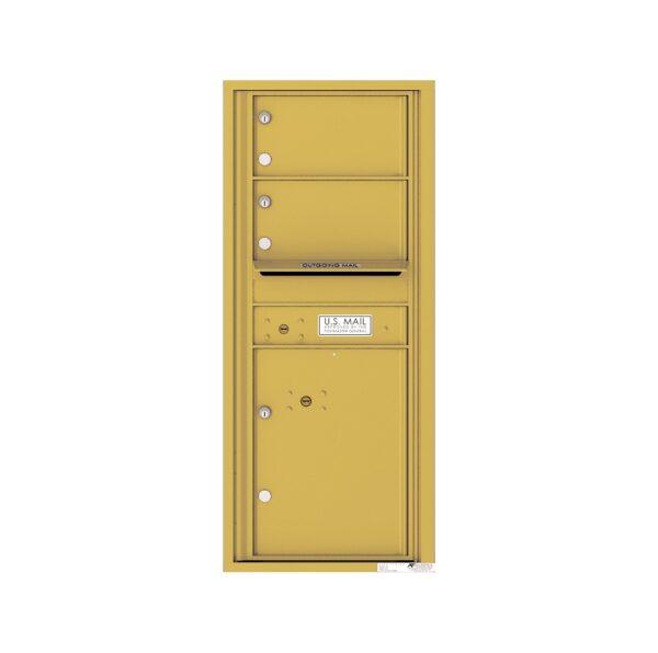 4C11S-02 2 Tenant Door 11 High Single Column 4C Front Loading Mailbox