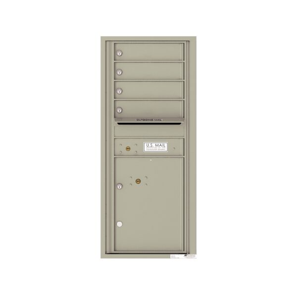 4C11S-04 4 Tenant Door 11 High Single Column 4C Front Loading Mailbox