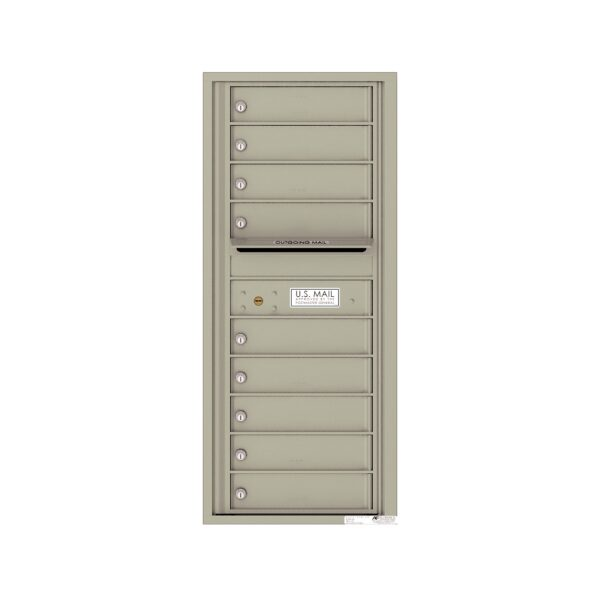 4C11S-09 9 Tenant Door 11 High Single Column 4C Front Loading Mailbox