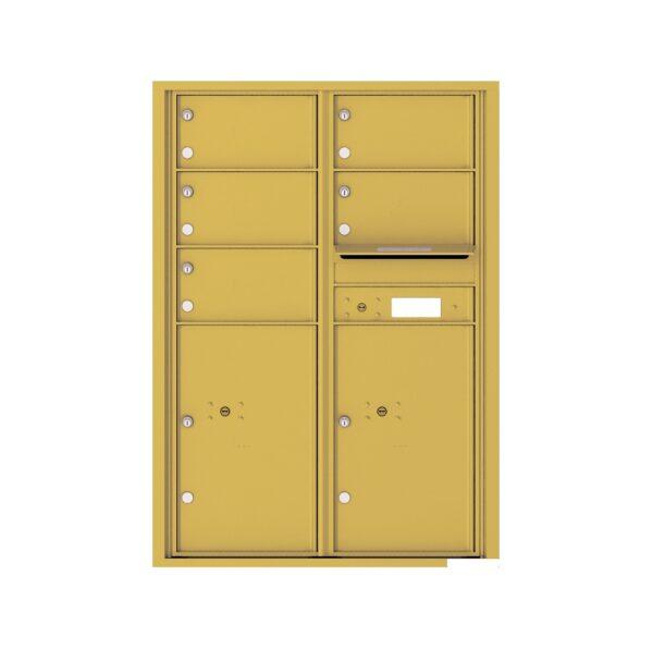 4C12D-05 5 Tenant Door 12 High 4C Front Loading Mailbox