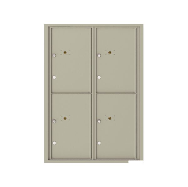 4C12D-4P 4 Parcel 12 High 4C Front Loading Outdoor Parcel Locker
