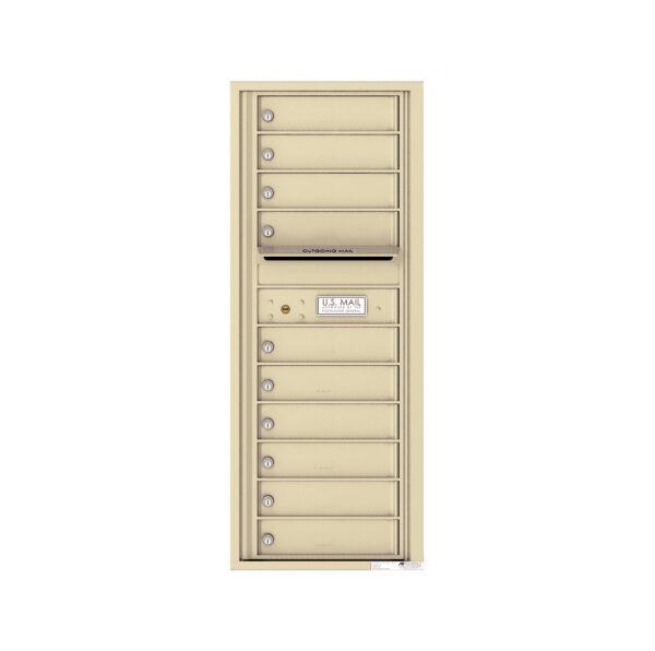 4C12S-10 10 Tenant Door 12 High Single Column 4C Front Loading Mailbox
