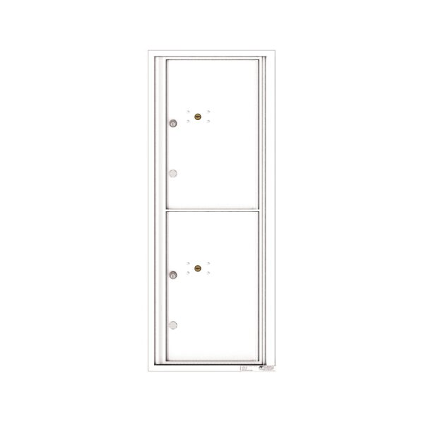 4C12S-2P 2 Parcel 12 High Single Column 4C Front Loading Outdoor Parcel Locker