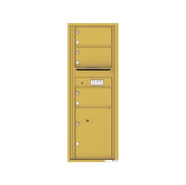 4C13S-03 3 Tenant Door 13 High Single Column 4C Front Loading Mailbox