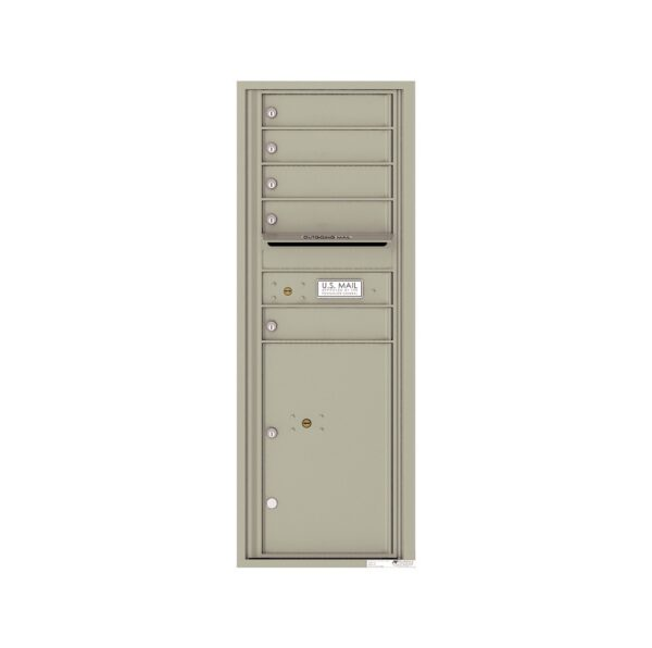 4C13S-05 5 Tenant Door 13 High Single Column 4C Front Loading Mailbox