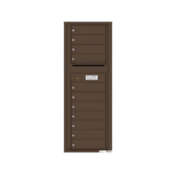 4C13S-11 11 Tenant Door 13 High Single Column 4C Front Loading Mailbox