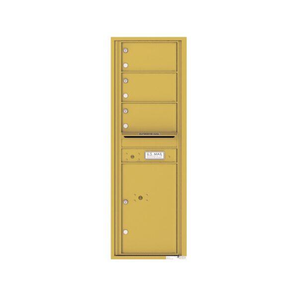 4C14S-03 3 Tenant Door 14 High Single Column 4C Front Loading Mailbox