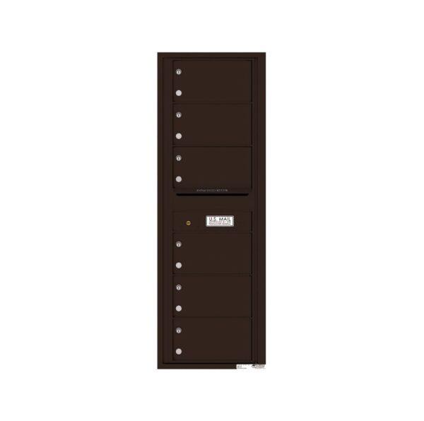 4C14S-06 6 Tenant Door 14 High Single Column 4C Front Loading Mailbox