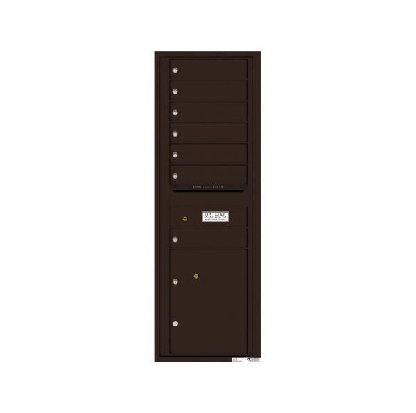 4C14S-07 7 Tenant Door 14 High Single Column 4C Front Loading Mailbox
