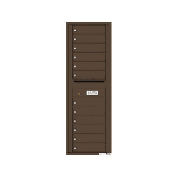 4C14S-12 12 Tenant Door 14 High Single Column 4C Front Loading Mailbox