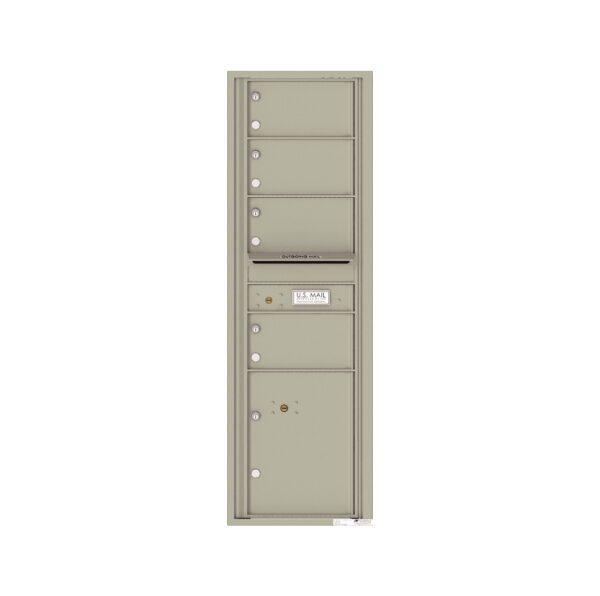 4C15S-04 4 Tenant Door 15 High Single Column 4C Front Loading Mailbox