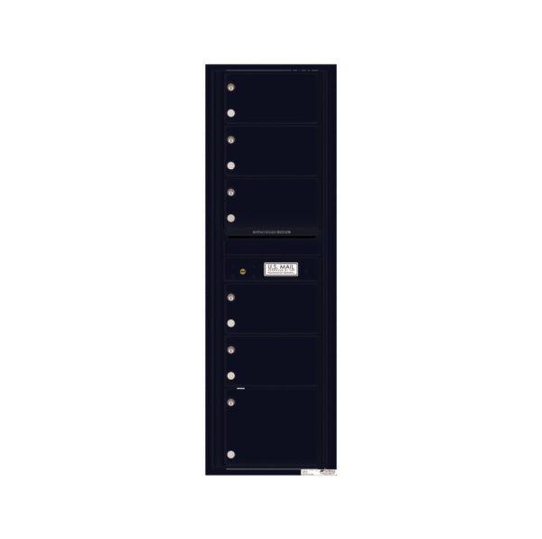 4C15S-06 6 Tenant Door 15 High Single Column 4C Front Loading Mailbox