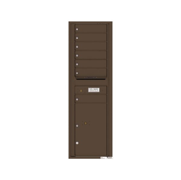 4C15S-07 7 Tenant Door 15 High Single Column 4C Front Loading Mailbox