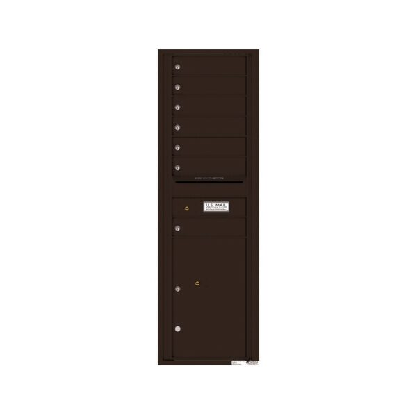 4C15S-07 7 Tenant Door 15 High Single Column 4C Front Loading Mailbox