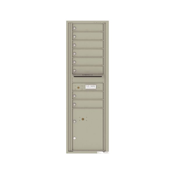 4C15S-08 8 Tenant Door 15 High Single Column 4C Front Loading Mailbox