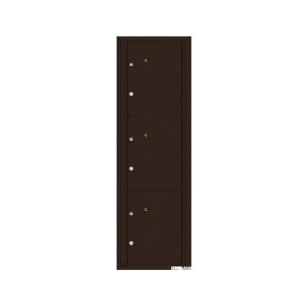 4C15S-3P 3 Parcel 15 High Single Column 4C Front Loading Outdoor Parcel Locker