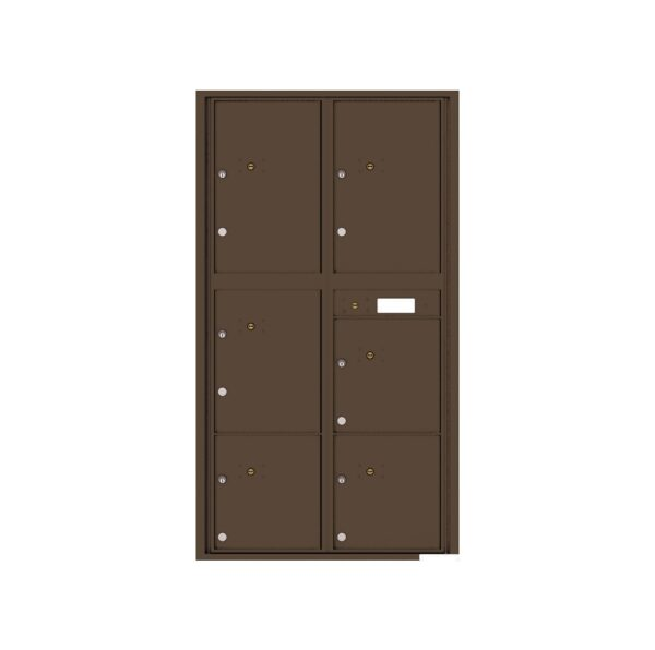 4C16D-6P 6 Parcel Max-Height 4C Front Loading Outdoor Parcel Locker