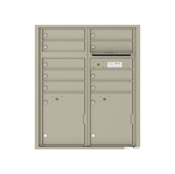 4CADD-09 9 Tenant Door Max Height ADA 4C Front Loading Mailbox