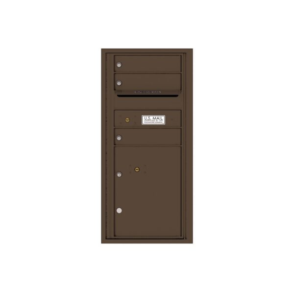 4CADS-03 3 Tenant Door Max Height ADA Single Column 4C Front Loading Mailbox