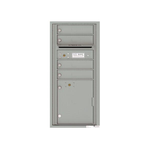 4CADS-04 4 Tenant Door Max Height ADA Single Column 4C Front Loading Mailbox