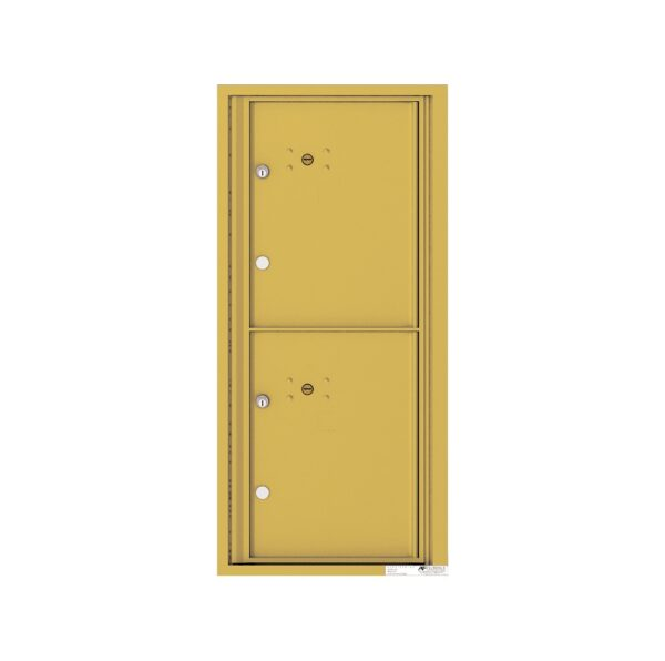 4CADS-2P 2 Parcel Max Height ADA-Compliant 4C Front Loading Outdoor Parcel Locker