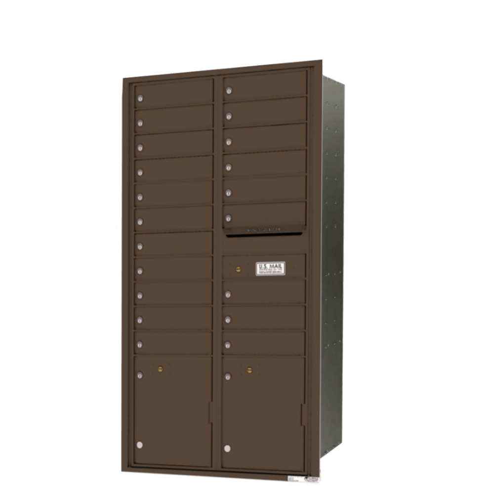 4C-Front Loading mail box unit from Postal Supply
